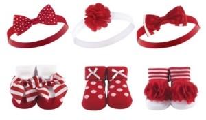 Hudson Baby Baby Girl Socks and Headband Gift Set
