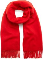 Mulberry Lambswool Scarf Fiery Red Lambswool
