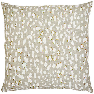 The Piper Collection Ollie 22x22 Pillow - Beige Leopard Linen