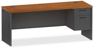 Lorell 97000 Modular Desk Finish: Cherry/Charcoal