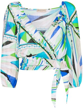Emilio Pucci Bes print wrap top