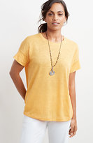 J. Jill Easy Crew-Neck Linen Knit Tee