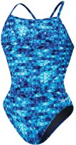 Speedo Youth PowerPlus Nano Fracture Flyback One Piece Swimsuit 8144605