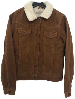 Topshop Tophop Camel Velvet Jacket for Women