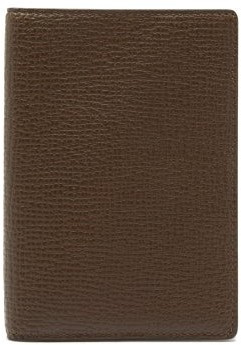 Smythson Ludlow Grained-leather Passport Holder - Dark Green