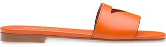 Prada Cut-Out Flat Slides