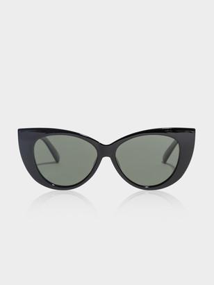 Le Specs Feline Fine Sunglasses in Black