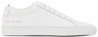 Common Projects White Achilles Laceless Sneakers