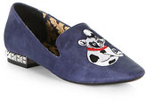 Boutique 9 Yorocco Embroidered Bulldog Suede Smoking Slippers