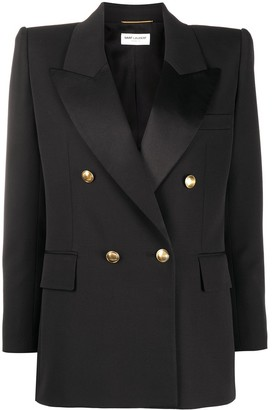 Saint Laurent Structured Shoulders Double-Breasted Blazer