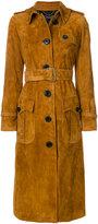 Coach long button coat