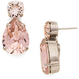 Sorrelli Silvertone Teardrop Accent Earring With Swarovski® Crystals