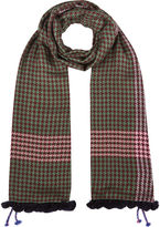 Jane Carr Forest Houndstooth Nomad Wrap