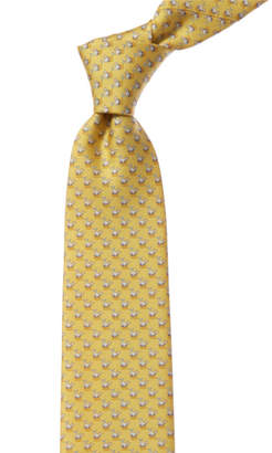 Salvatore Ferragamo Yellow Whales Silk Tie