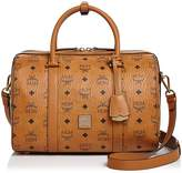 MCM Visetos Boston Medium Satchel