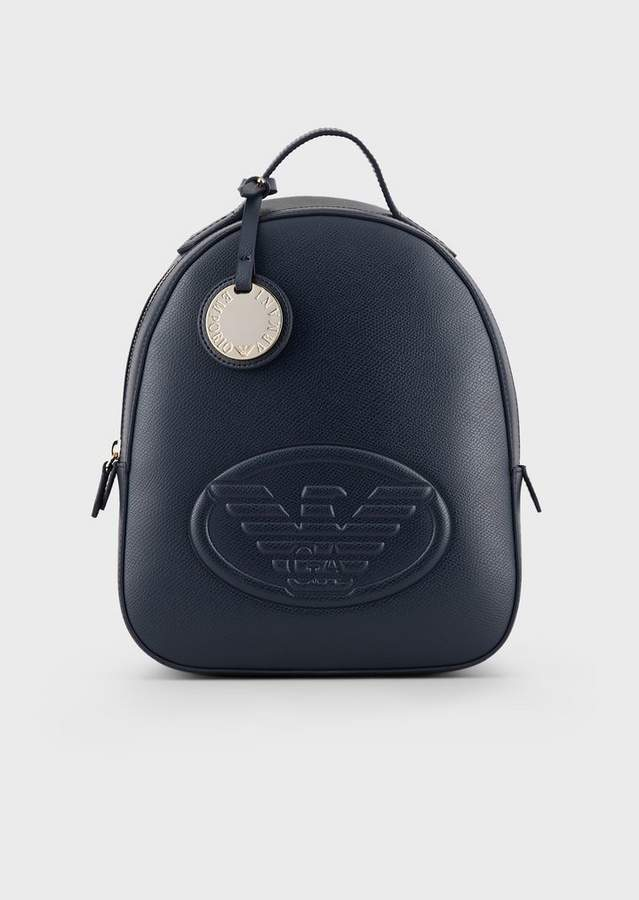 1e6811f1c7 Leatherette Backpack With Logo And Charm