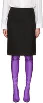 Balenciaga Black Wool Pencil Skirt