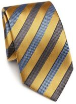 Ermenegildo Zegna Herringbone & Striped Silk Tie