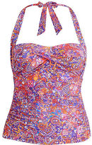 Ralph Lauren Woman Paisley Halterkini Top