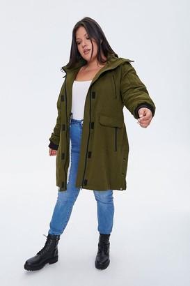Forever 21 Plus Size Faux Fur-Trim Parka