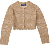 Ralph Lauren Metallic Pointelle Cardigan