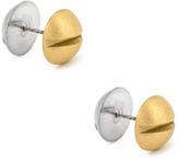 CC Skye Gold & Silver Double Screw Earrings