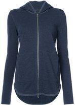 ATM Anthony Thomas Melillo size pockets zipped hoodie - women - Cotton - XS