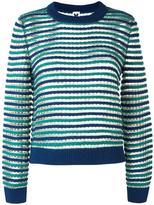 M Missoni round neck striped jumper - women - Wool/Viscose/Polyamide/Metallic Fibre - 44