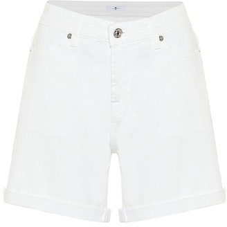7 For All Mankind Boy high-rise denim shorts