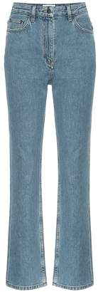 The Row Charlee high-rise cropped jeans