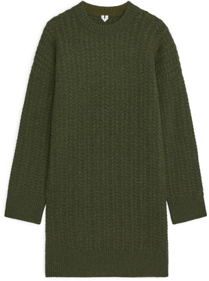 Arket Cable-Knit Wool Dress