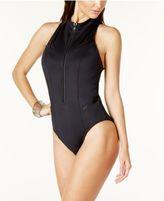 Magicsuit Zip-Front Racerback One-Piece Swimsuit