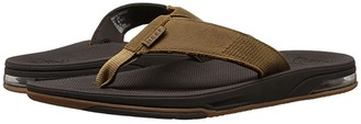 Reef Leather Fanning Low (Brown) Men's Shoes