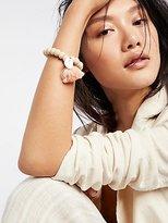 Tasseled Wooden Shell Bracelet by Lead at Free People