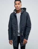 Jack & Jones Vintage Fishtail Parka With Quilted Linning And Removable Wire Frame Hood
