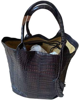 Nancy Gonzalez Brown Python Handbags