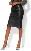 New York & Co. Faux-Leather Front Pencil Skirt