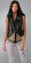 Rag & Bone Sleeveless Leather Moto Jacket