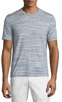 Michael Kors Space-Dyed Short-Sleeve Crewneck Tee, Midnight