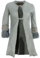 Le Cuir Perdu embellished buckle leather jacket