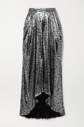 Isabel Marant Draped Lame Midi Skirt