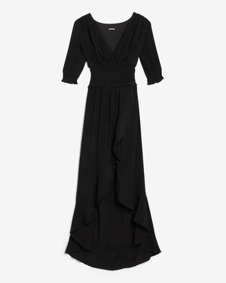 Express Smocked Waist Midi Dress