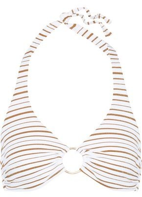 Melissa Odabash Brussels Ring-embellished Halterneck Bikini Top