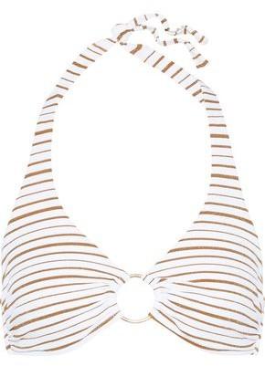 Melissa Odabash Brussels Ring-embellished Printed Triangle Bikini Top