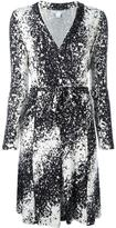 Diane von Furstenberg abstract print wrap dress