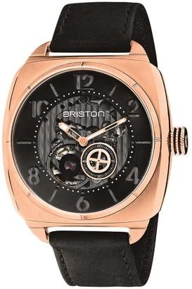 Briston Watches Briston Streamliner Skeleton Rose Gold Ip Case Black Dial
