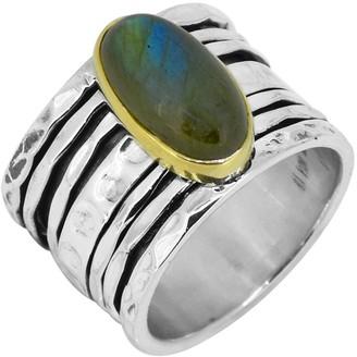 Nitya Sterling Silver Brass Labradorite Ring