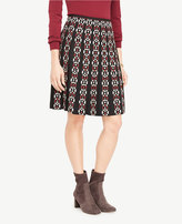 Ann Taylor Embroidered Pleated Skirt
