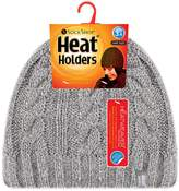 Heat Holders - Women's Thermal Fleece Cable knit Winter hat 3.4 tog