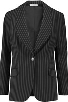 Temperley London Nico pinstriped wool-crepe blazer